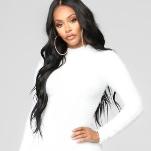 Fashion Nova Beverly Hills Babe Dress - White